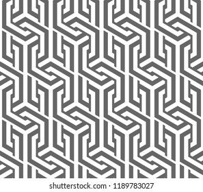 Vector seamless texture. Modern geometric background. Lattice with hexagonal cells.