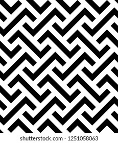 Vector seamless texture. Modern geometric background. Monochrome repeating pattern with broken lines.