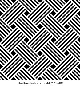 Vector seamless texture. Modern stylish texture. Repeating geometric tiles with squares. Monochrome graphic design.