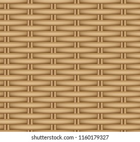 Vector seamless texture of a wicker basket.