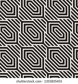 Vector seamless thin lines pattern. Stylish linear lattice background. Trendy geometric texture.