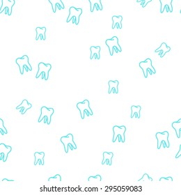 vector seamless tooth pattern