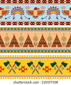 Vector Seamless Tribal Ethnic Vintage Background Graphic Designs