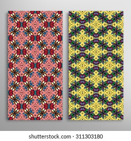 Vector seamless vertical patterns set with hand drawn texture for Wedding, Bridal, Valentine's day or Birthday Invitations. Fabric or paper print, fashion illustration. Abstract geometric background.