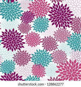 Vector seamless wallpaper and background of fancy flowers