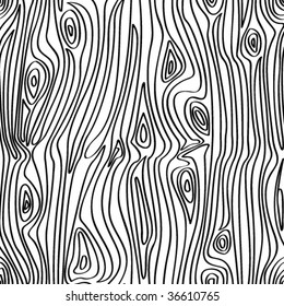 VECTOR Seamless wooden pattern.