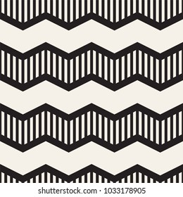 Vector seamless zigzag line pattern. Abstract stylish geometric background. Repeating lattice background