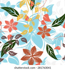 Vector Seamples Pattern Flower