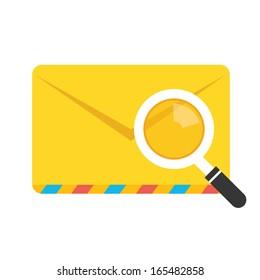 Vector Search Envelope Icon