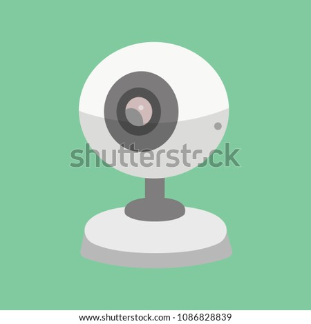 Vector Security Camera Cctv Cartoon Illustration Stock Vector