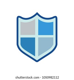 vector security shield emblem- protection and safety sign, shield icon