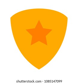 vector security shield with star emblem- protection and safety sign, shield icon