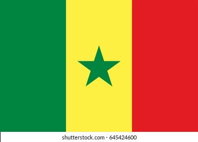 Vector Senegal flag, Senegal flag illustration, Senegal flag picture, Senegal flag image