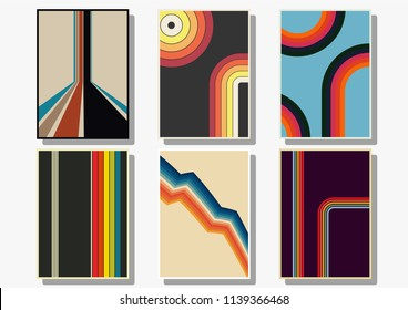 Vector Set of 1970s backgrounds