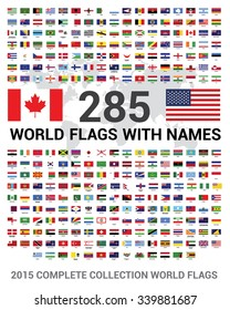 192 countries Flags of the World Self-adhesive Labels