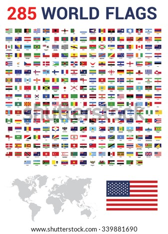 Vector Set 285 World Flags Sovereign Stock Vector Royalty Free