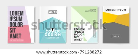 vector set 4 pages light pastel stock vector royalty free