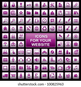vector set of 92 computer icons for your website