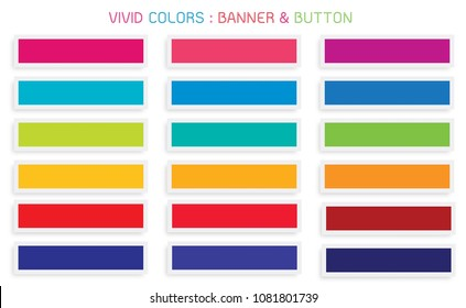 Vector Set of Abstract Banner Design Background Header Banner or Botton Templates in Vivid Colors with Copy Space for Add Content.