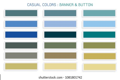 Vector Set of Abstract Banner Design Background Header Banner or Botton Templates in Casual Colors with Copy Space for Add Content.