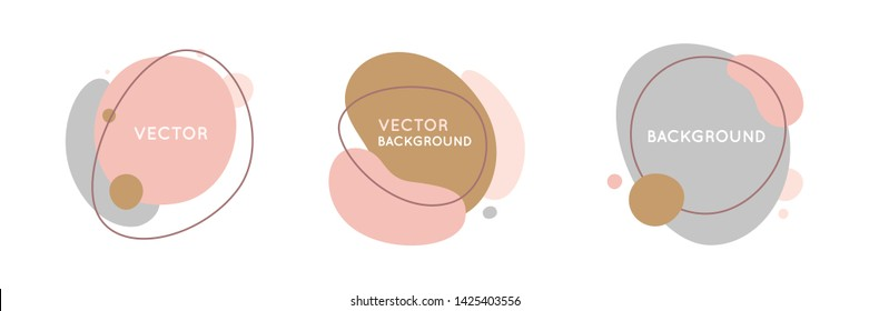 Vector set of abstract creative backgrounds in minimal trendy style with copy space for text - design templates for social media stories and bloggers - simple, stylish and minimal designs