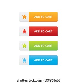 Vector Set of Add To Cart Buttons