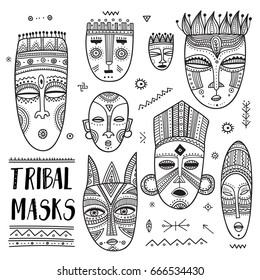 Tribal Mask Vector Images Stock Photos Amp Vectors