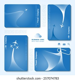 Travel agency business card images stock photos vectors vector set of air company business cards minimalistic style whirlwind of airplane for colourmoves