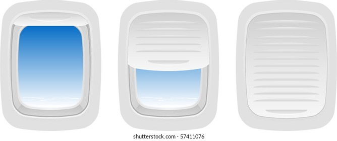 Vector Set of Aircraft Windows