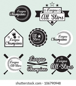 Vector Set: All Star and League Champion Labels