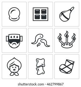 Vector Set of Alternative Medicine Icons.