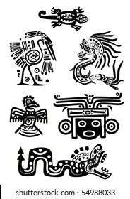 Vector set - American Indian national patterns