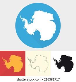 Vector set of antarctica icons.