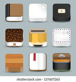 Vector set of App Icons