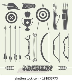 Vector Set: Archery Icons and Objects