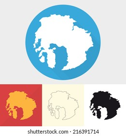 Vector set of arctic icons.