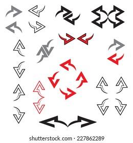 Vector set of arrows.