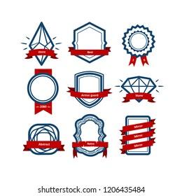 Vector set Badge, Ribbons and Labels. Design elements