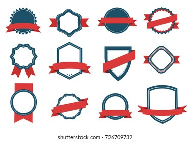 Vector set Badge, Ribbons  and  Labels. Design elements