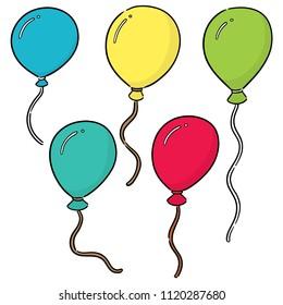 vector set of balloon