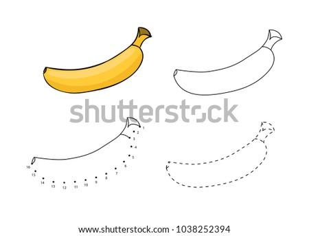 Vector Set Bananas Kids Drawing Child Stock Vector Royalty Free