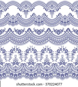 Vector set with baroque ornaments in Victorian style. Ornate element for design.