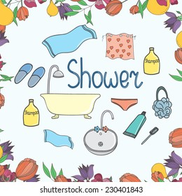 Vector set with bath objects