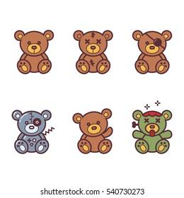 Vector Set of bear icon.