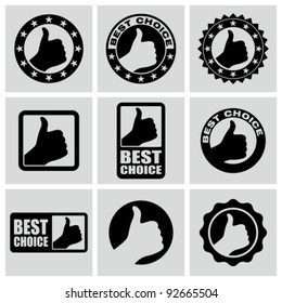 Vector set of best choice icons.