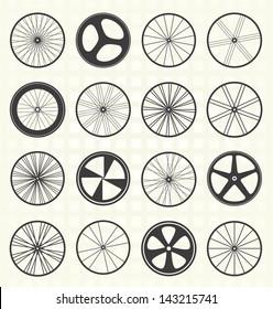 Vector Set: Bike Wheels Collection