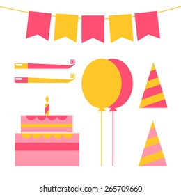 vector set for birthday, happy birthday vector set