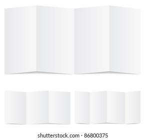 Vector set of blank folded paper