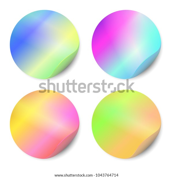 Vector Set Blank Stickers Isolated On Stock Vector (Royalty