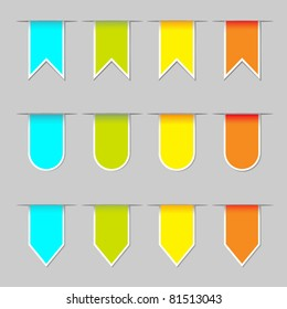 vector set of bookmarks